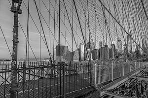 Skyline New York vanaf Brooklyn Bridge