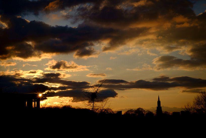Amersfoortse zonsondergang sur Sjoerd Mouissie