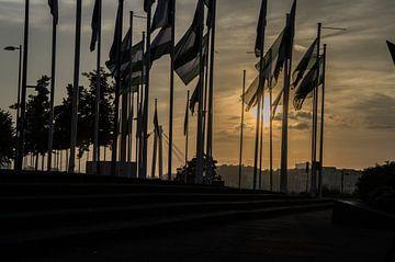Rotterdam vlaggen 2 von Oguzhan Beyaztas