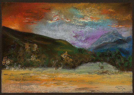"""Impressionistisch schilderij """"Ruw Landschap"""" van Tanja Udelhofen"""