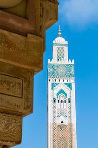 Minaret van de Hassan II Moskee, Casablanca, Marokko van