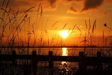 Zonsondergang, sunset  von Anja Kok