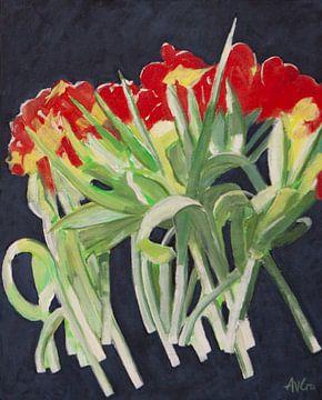 Blühende Tulpen von Antonie van Gelder Beeldend kunstenaar