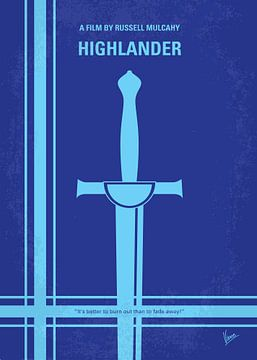 No034 My Highlander minimal movie poster van Chungkong Art
