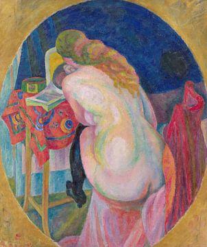 Naakte vrouw die leest, Robert Delaunay