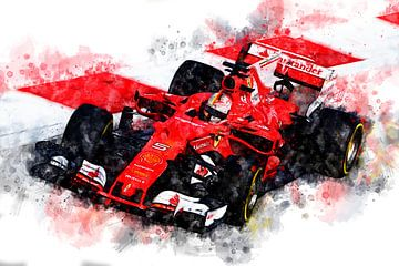 Sebastian Vettel, Ferrari Nr. 5 von Theodor Decker