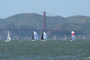 Golden gate bridge San Francisco van
