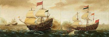 Eine Seekriegsbegegnung zwischen niederländischen und spanischen Kriegsschiffen, Cornelis Verbeeck