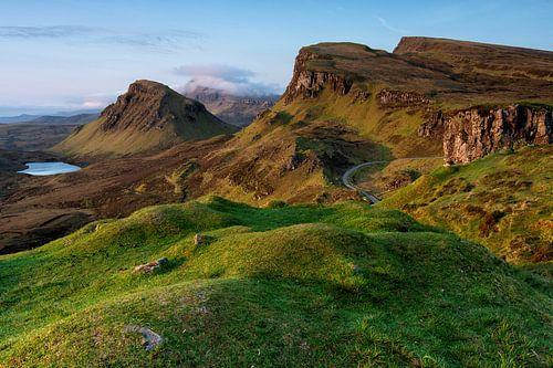 Prachtig Zonsopkomst Schots Berglandschap van
