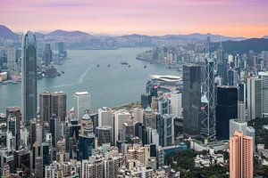 Zonsopkomst in Hong Kong