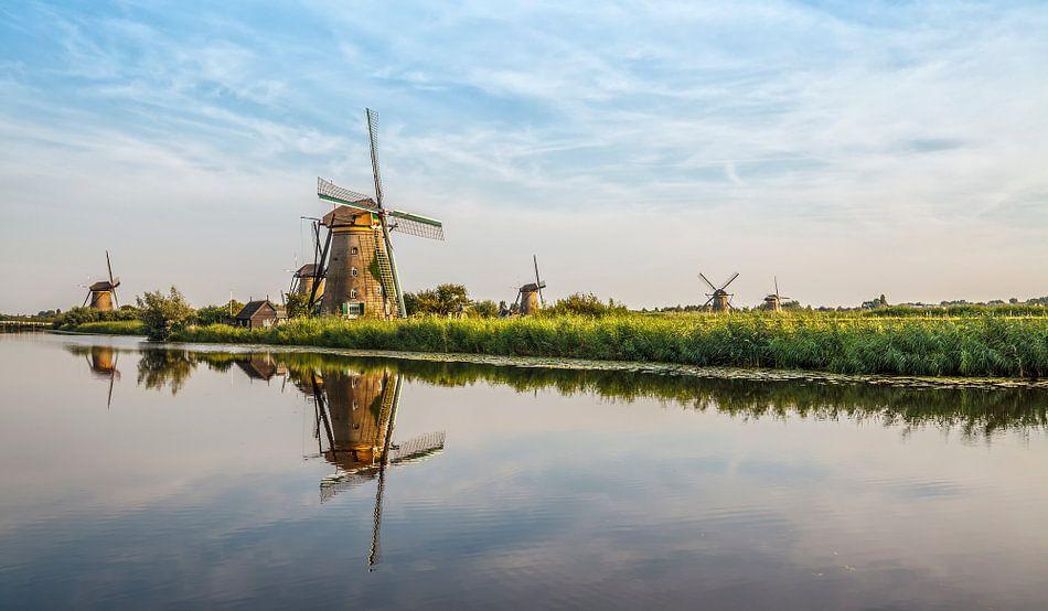 Kinderijk zonsondergang Nederland van Rob van der Teen