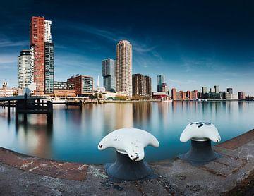 Rijnhaven Rotterdam, lange Exposition von Henno Drop