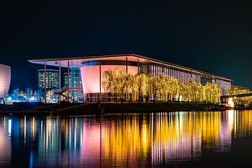 Autostadt Wolfsburg bij nacht van Marc-Sven Kirsch