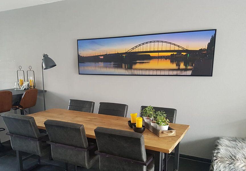 Photo de nos clients: Panorama John Frostbrug juste après le coucher du soleil à Arnhem sur Anton de Zeeuw, sur toile