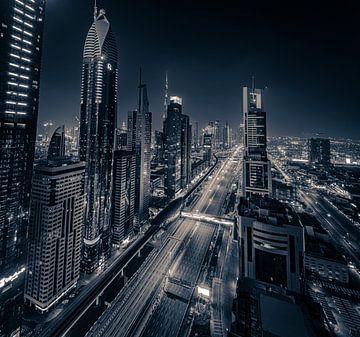 Sheikh Zayed Road Dubai van Rene Ladenius Digital Art