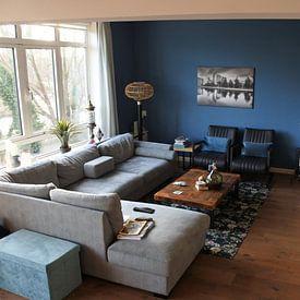 Photo de nos clients: Skyline van Den Haag sur Tom Roeleveld, sur toile
