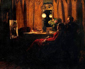Bewertung der Arbeit des Tages, Michael Ancher, Anna Ancher