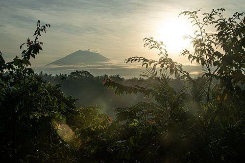 Vulkaan Gunung Agung vanuit Ubud