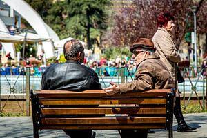 Old men having a good time van Julian Buijzen