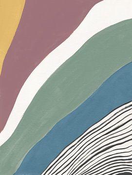 Kleurrijke retro abstracte IV, Danhui Nai van Wild Apple