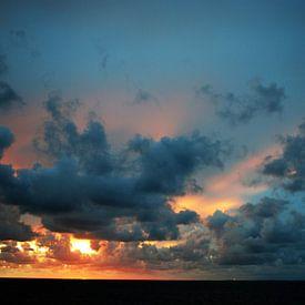 Zonsondergang bij Roptazijl van Jetty Boterhoek
