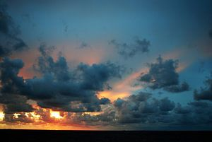 Zonsondergang bij Roptazijl van