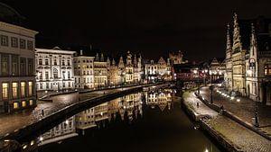 Gent bij nacht van