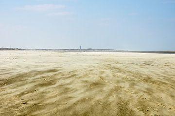 Storm op het strand sur Michel van Kooten