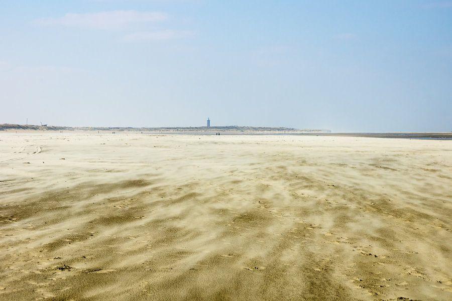 Storm op het strand van Michel van Kooten