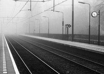 Verlaten station van Leo Langen