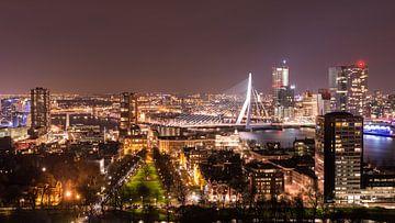Uitzicht over Rotterdam van Elles Rijsdijk