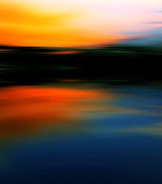 Zonsondergang kleuren 4 van Angel Estevez