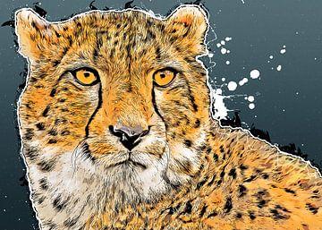 Gepard Kunst #Gepard #Katzen #Tiere von JBJart Justyna Jaszke