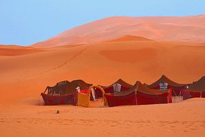 Nomaden tenten in Sahara woestijn
