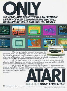 Vintage advertentie ATARI 1983 van