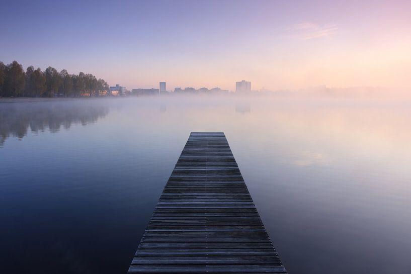 Tranquil jetty van Sander van der Werf