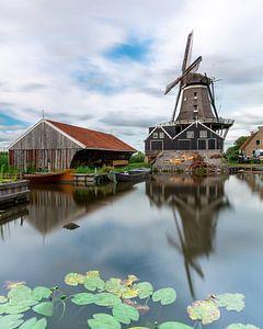 Mühle de Rat in IJlst, Friesland von Marcel van den Bos