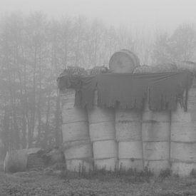 Hooistapel in zwart/wit van Wilma Overwijn