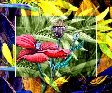 Florales (Mohn) van Gertrud Scheffler