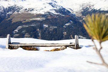 Un banc dans la neige sur Ginkgo Fotografie