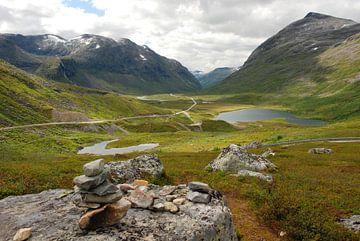 Weg 63 bij Trollstigen Noorwegen von Margreet Frowijn