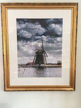 Photo de nos clients: Moulin sur la Rottemeren avec le drapeau néerlandais sur Ricardo Bouman | Fotografie