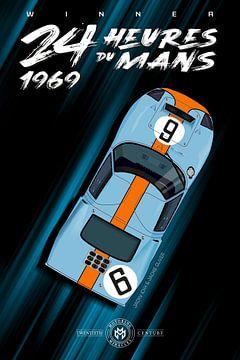 Winnaar 24 Heures du Mans 1969 van Theodor Decker