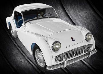 Triumph TR3 in pure white von aRi F. Huber