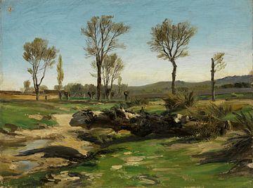 Carlos de Haes-Kleines Grasland, Antike Landschaft