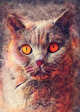 Katze 9 Tiere Kunst #Katze #Katzen #Kätzchen von JBJart Justyna Jaszke