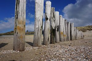 Zoutelande strand van Angela Wouters
