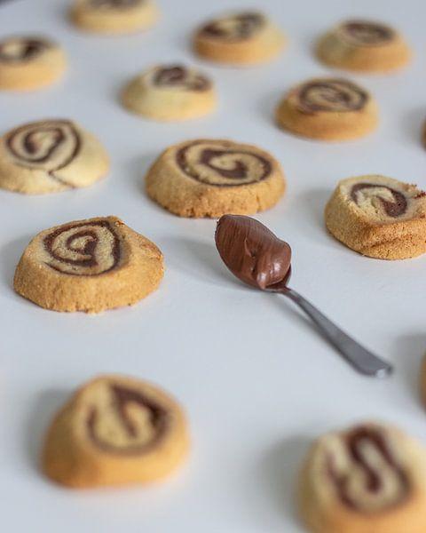 Chocolade swirl koekjes van Martijn Koevoets