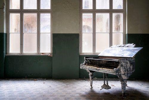 Verlaten Piano voor Raam. van Roman Robroek