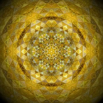 Mandala sonnengelb von Sabine Wagner